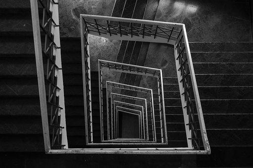 Step, Architecture, Building, Monochrome