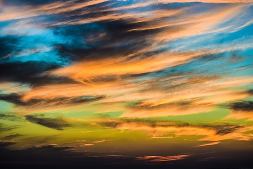 Sunset, Sky, Clouds, Palette, Panoramic, Colors, Dusk