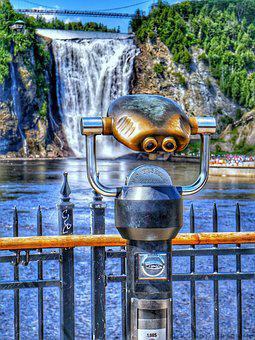Body Of Water, Waterfall, Canada, Quebec, Montmorency