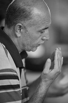 Folk, Adult, Male, Portrait, Single, Prayer, Worship