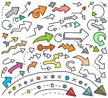 Desktop, Pattern, Art, Graphic Design, Arrow, Doodle