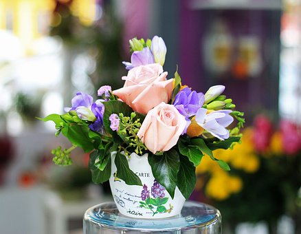 Flower, Vase, Bouquet, Flora, Pot, Bokeh, Decoration