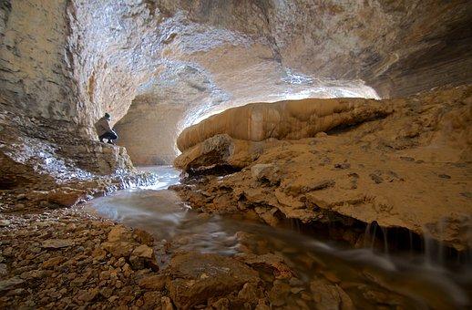 Cave, Source, Porch, Limestone, Calcite, Doubs, Roche
