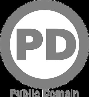 Copyright-free, Logo, Cc0, License, Pd, Round, Gray