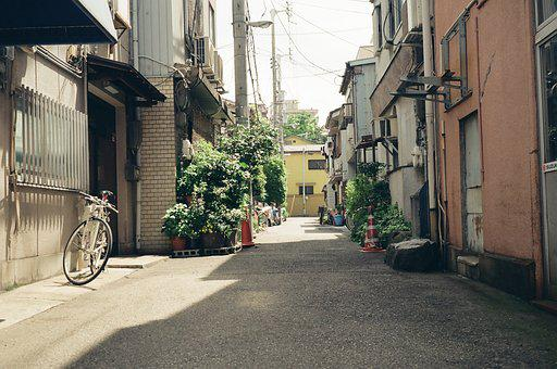 Street, Packing, City, Home, Structure, Japan