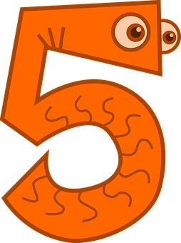 Counting, Five, Math, Numbers, Numerals, Funny, 5