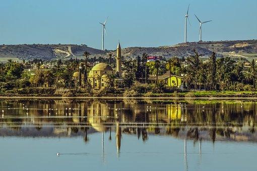 Cyprus, Larnaca, Lake, Salt Lake, Landscape