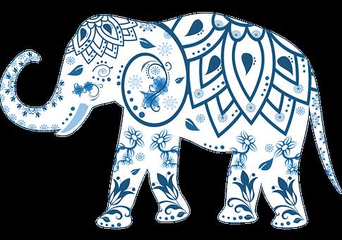 Elephant, Decorated, Animal, India, Mammal, Decoration