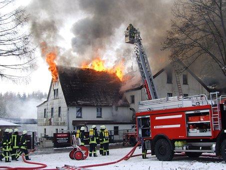Flare-up, Smoke, Winter, Hose, Arson, Delete, Brand