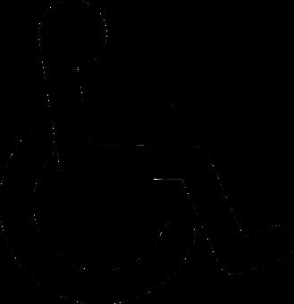 Wheelchair, Black, Handicap, Disabled, Logo, Accessible