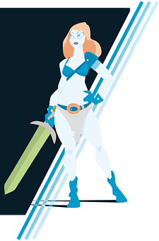 Warrior, Illustration, Fighter, Barbaro, Sword, Fantasy