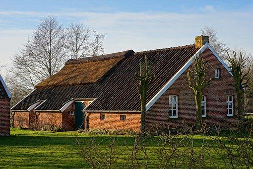 Barn, Home, Farm, Roof, Rustic, Fehnhaus, East Frisia