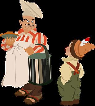 Bucket, Hat, Apron, Chef, French, Pie, Boy, Kitchen