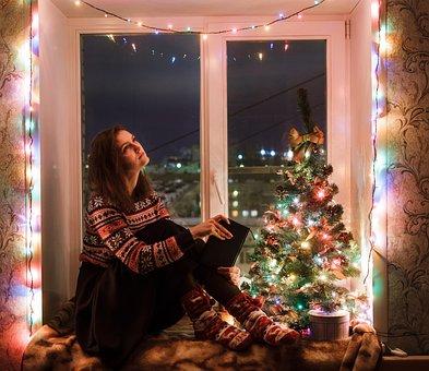 Girl, Window, Swag, Lights, Light, Heat, Comfort