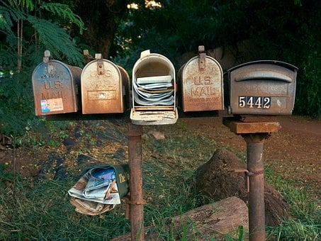 Wood, Outdoors, Nature, Rural, Mailboxes, Communication