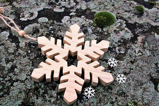Nature, Wooden, Asterisk, Stone, Moss, Frost, Model