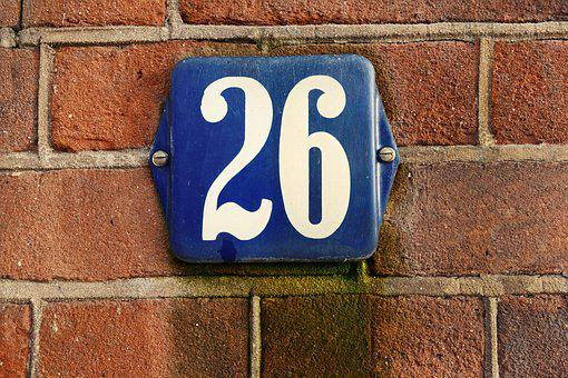 House Number, Number, Plaque, Number Plaque