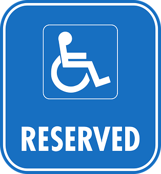 Reserved, Sign, Car, Park, Parking, Wheelchair