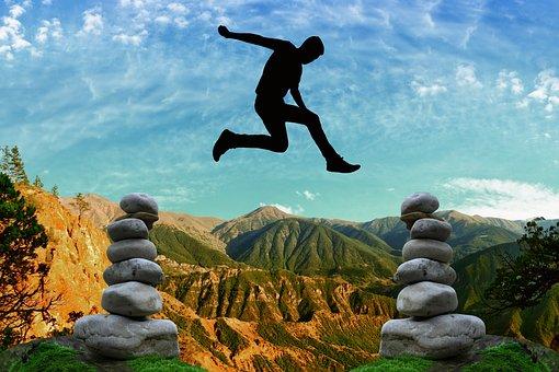 Risk, Courage, Balance, Risky, High Spirits, Rock, Sky