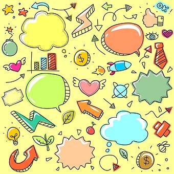 Cute, Sketch, Child, Graphic, Funny, Art, Retro