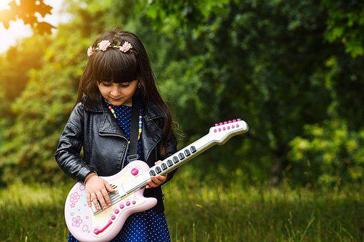 Happy, Fun, Kids, Musician, Electric, Smiling, Sound