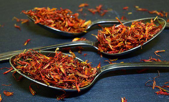 False Saffron, Cook, Spice, Food, Spoon, Red