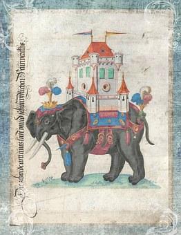 Vintage, Elephant, Toys, Story, Book, Background, Art