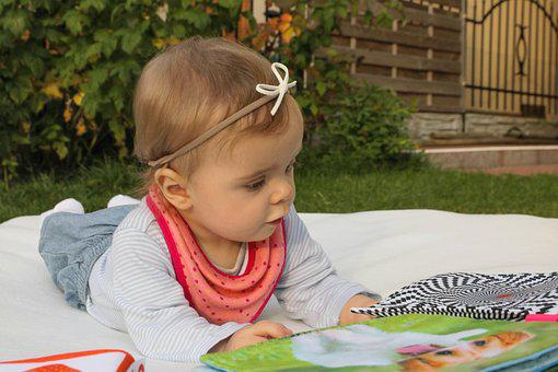 Child, The Little Girl, Books, Fun, A Small Child