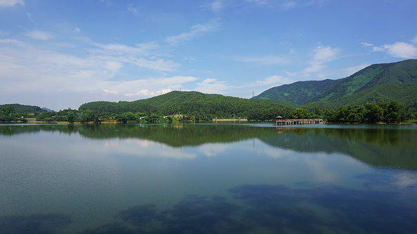 Waters, Lake, Nature, Reflection, A Bird's Eye View