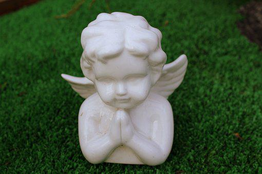 Angel, The Figurine, Porcelain, Wings, White, Religion
