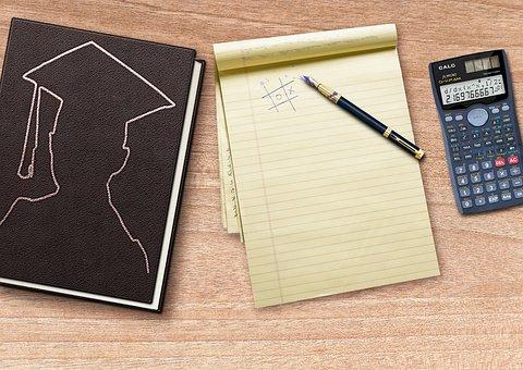 Book, Writing Pad, Calculator, Filler, Fountain Pen