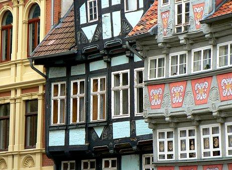 Quedlinburg, Truss, Architecture, Home, Window, Facade