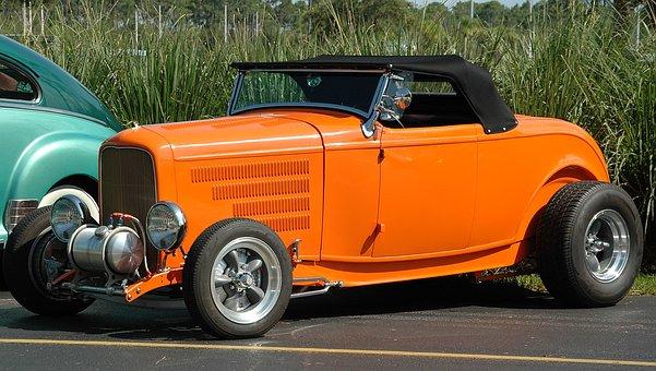 Car, Hot Rod, Customized, Retro, Speed, Vehicle