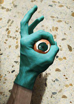 Hand, Sand, Sea, Color, Blue-green, Body Of Water, Eye