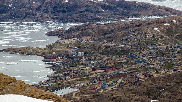 Village, Houses, Colourful, Color, Drift Ice, Frozen