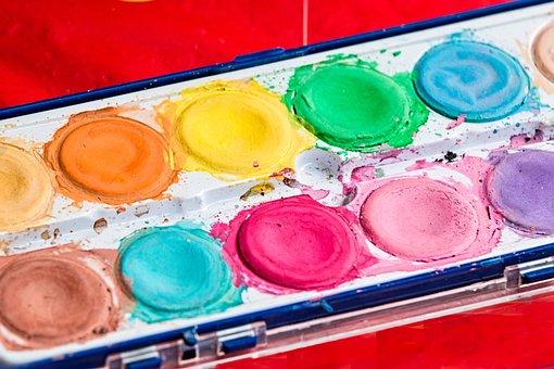 Palette, Brush, Paint Box, Color, Watercolor, Colorful