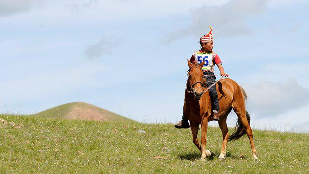 Mongolia, Reiter, Competition, Winner, Nature
