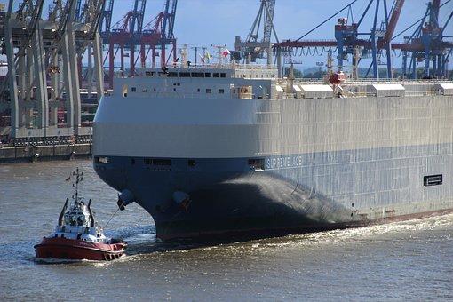 Port, Container, Tug, Waters, Ship, Elbe, Hamburg
