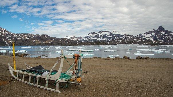 Sled, Dog Sled, Greenland, Summer, Arctic, Polar