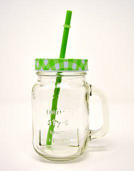 Drinking Glass, Straw, Drink, Color, Summer Feeling
