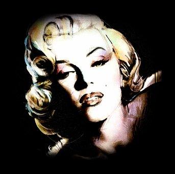 Portrait, Face, One, Art, Adult, Marilyn, Graffiti
