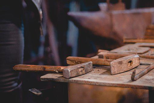 Wood, Old, Hammer, Forge, Industry, Rusty, Leave, Dirty