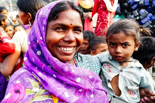 Smile, Slums, Poor, Support, India, Happy, Portrait