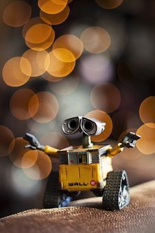 Machine, Gold, Bokeh, Walle, Photograph