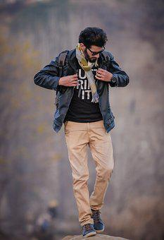 Man, Outdoors, Nature, Adult, Portrait, Stylish Boy