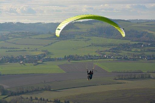 Paragliding, Paraglider, Sky, Landscape, Nature