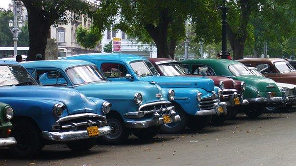 Automobile, Vehicle, Transport, Wheel, Cuba, Old Car