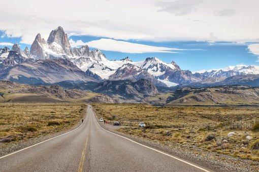 Mountain, Road, Nature, Travel, Landscape, Patagonia