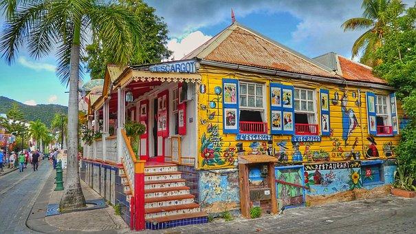Caribbean, St Maarten, Philipsburg, Holiday