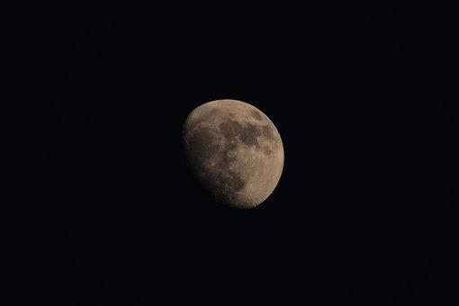 Moon, Astronomy, Luna, Crater, Lunar, Satellite, Sky
